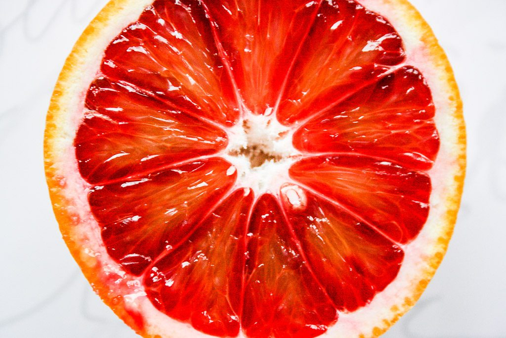 Aufgeschnittene Orange